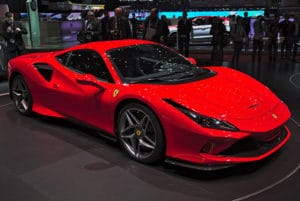 2019 Ferrari F8 Tributo on display at Geneva auto show