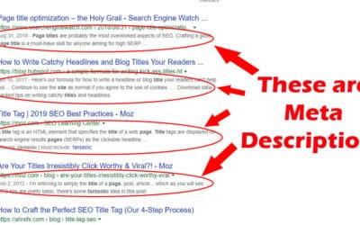 On Page SEO Basics: Descriptions