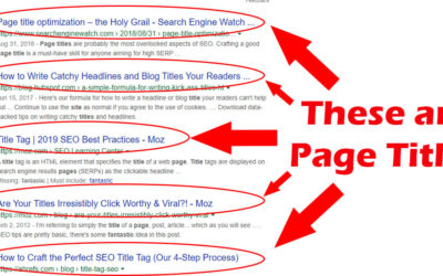 On Page SEO Basics: Titles